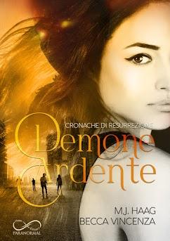 Book Cover: Demone Ardente di M.J.Haag e Becca Vincenza